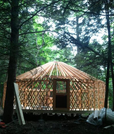 Yurt structure (in a process of construction)
